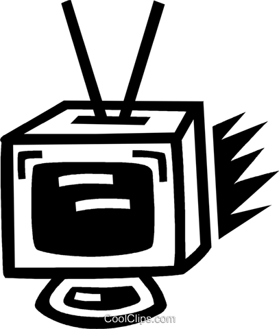television set Royalty Free Vector Clip Art illustration vc043447