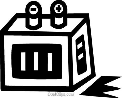 large battery Royalty Free Vector Clip Art illustration vc043452