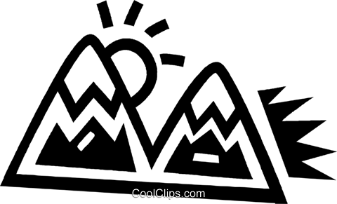 mountains Royalty Free Vector Clip Art illustration vc043455