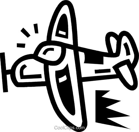 airplane Royalty Free Vector Clip Art illustration vc043456