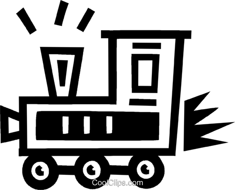 train Royalty Free Vector Clip Art illustration vc043464
