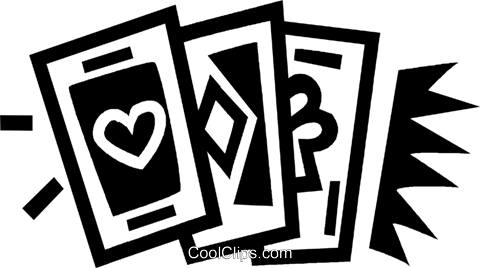 playing cards Royalty Free Vector Clip Art illustration vc043481