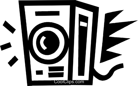 stereo speaker Royalty Free Vector Clip Art illustration vc043493