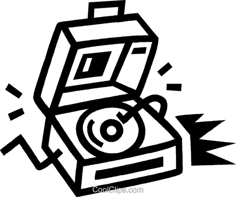 record player Royalty Free Vector Clip Art illustration vc043499