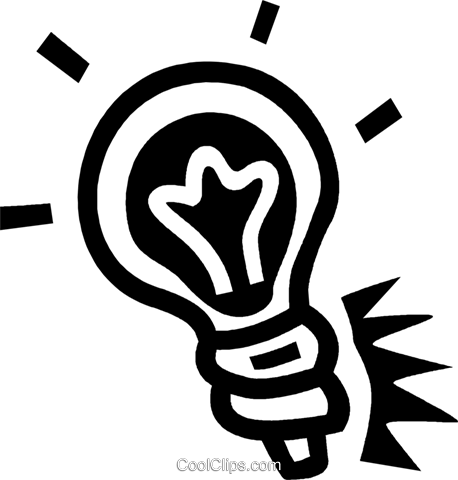 light bulb Royalty Free Vector Clip Art illustration vc043501