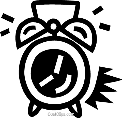 alarm clock Royalty Free Vector Clip Art illustration vc043520