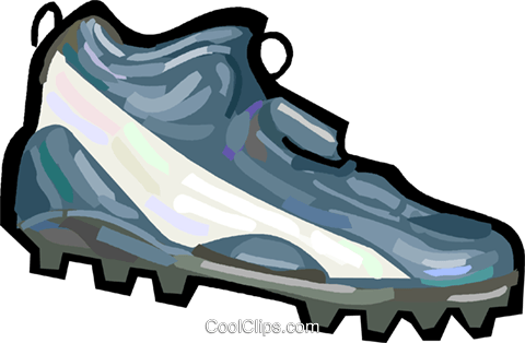 Football cleats Royalty Free Vector Clip Art illustration vc048242
