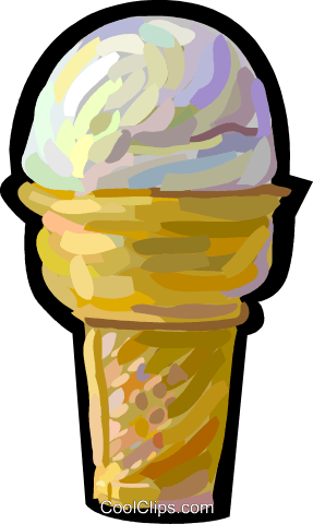 Ice cream cone Royalty Free Vector Clip Art illustration vc048249