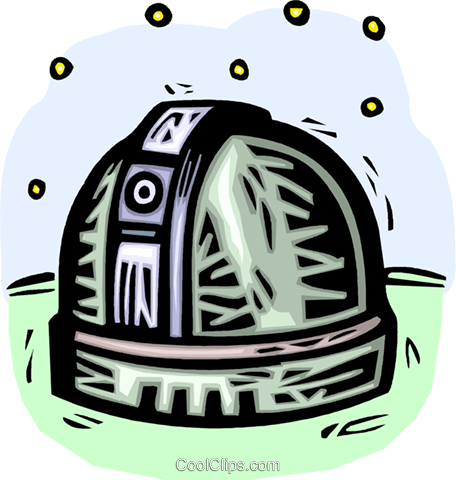 observatories Royalty Free Vector Clip Art illustration vc042910