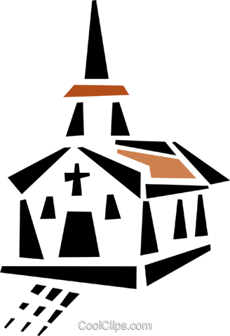church Royalty Free Vector Clip Art illustration vc043035