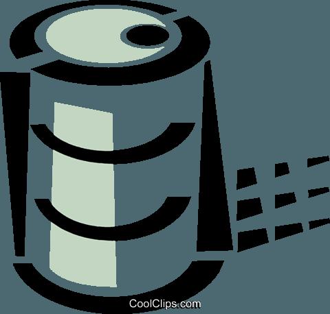 一桶石油 免版税矢量剪贴画插图