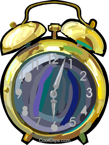 alarm clock Royalty Free Vector Clip Art illustration vc048256