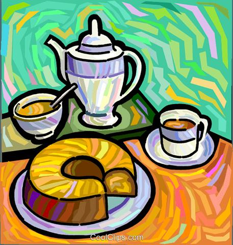 Kaffee Und Kaffee Kuchen Vektor Clipart Bild Vc048296 Coolclips Com