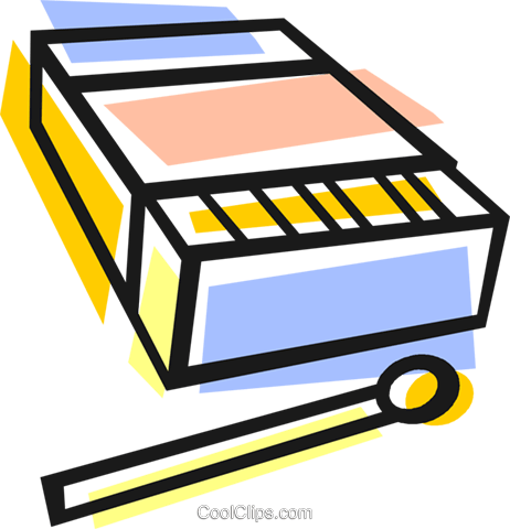 box of matches Royalty Free Vector Clip Art illustration vc048324
