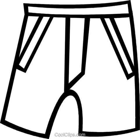 shorts Royalty Free Vector Clip Art illustration vc048425