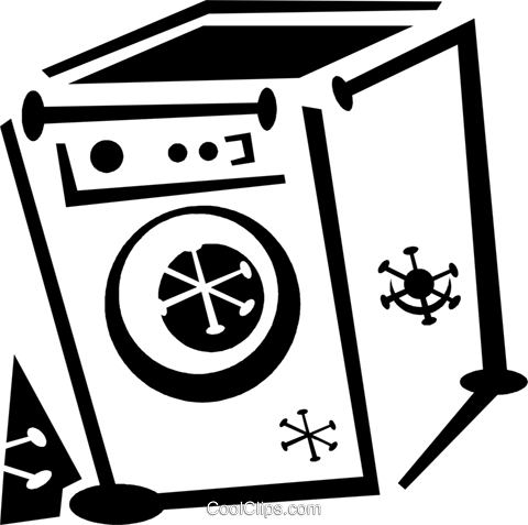 washing machine Royalty Free Vector Clip Art illustration vc043307