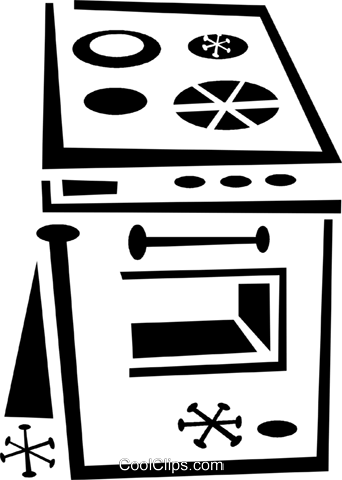 stove Royalty Free Vector Clip Art illustration vc043314