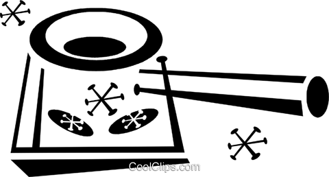 cooking pot Royalty Free Vector Clip Art illustration vc043320