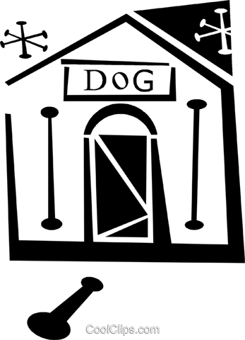 doghouse Royalty Free Vector Clip Art illustration vc043321