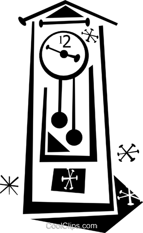 grandfather clock Royalty Free Vector Clip Art illustration vc043323