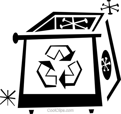recycle box Royalty Free Vector Clip Art illustration vc043326