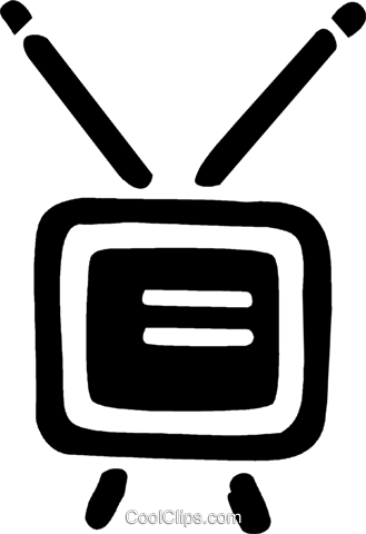television set Royalty Free Vector Clip Art illustration vc043336