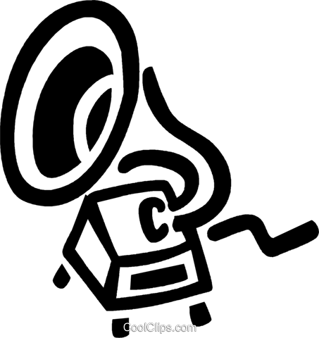 gramophone Royalty Free Vector Clip Art illustration vc043340