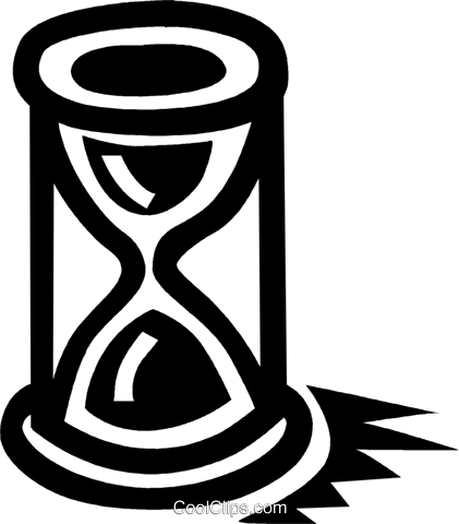hourglass Royalty Free Vector Clip Art illustration vc043354