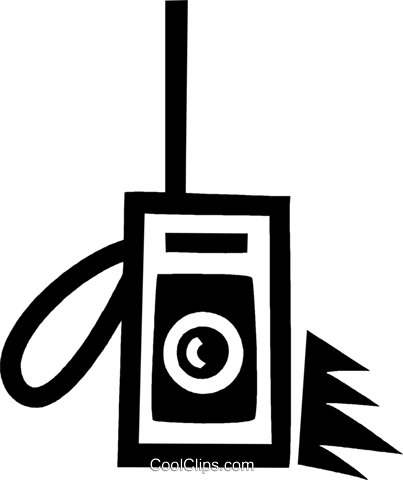 portable radio Royalty Free Vector Clip Art illustration vc043360