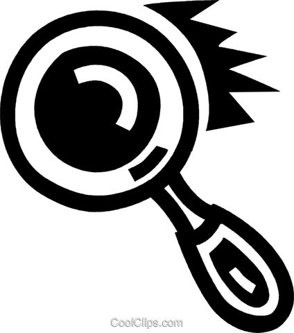 magnifying glass Royalty Free Vector Clip Art illustration vc043361