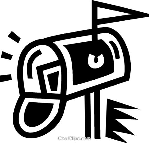 mailbox Royalty Free Vector Clip Art illustration vc043362