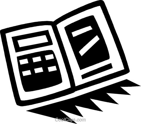 calculator Royalty Free Vector Clip Art illustration vc043379