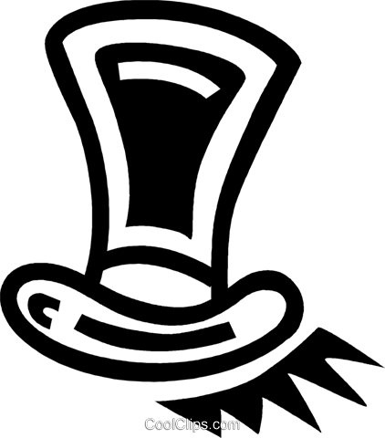 top hat Royalty Free Vector Clip Art illustration vc043384
