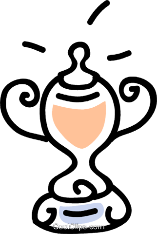 trophy Royalty Free Vector Clip Art illustration vc043529