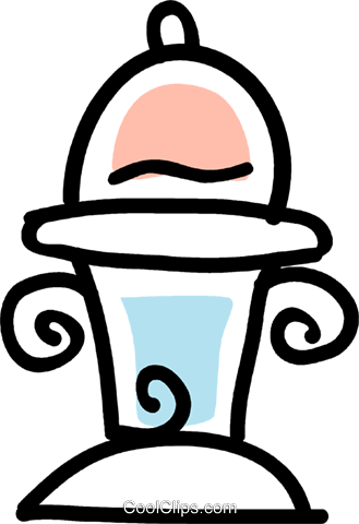 fire hydrant Royalty Free Vector Clip Art illustration vc043534