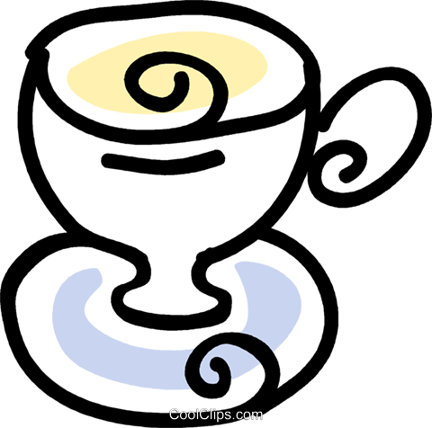 teacup Royalty Free Vector Clip Art illustration vc043536