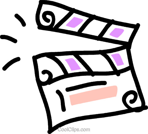 clapper board Royalty Free Vector Clip Art illustration vc043542