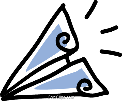 paper airplane Royalty Free Vector Clip Art illustration vc043555