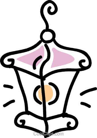 hanging lamp Royalty Free Vector Clip Art illustration vc043572
