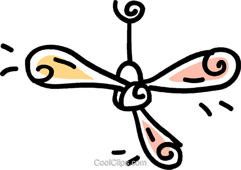 ceiling fan Royalty Free Vector Clip Art illustration vc043589