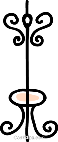 coat rack Royalty Free Vector Clip Art illustration vc043597