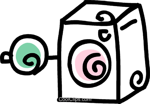 washing machine Royalty Free Vector Clip Art illustration vc043598
