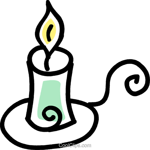 candle Royalty Free Vector Clip Art illustration vc043600