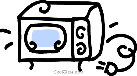 microwave oven Royalty Free Vector Clip Art illustration vc043619