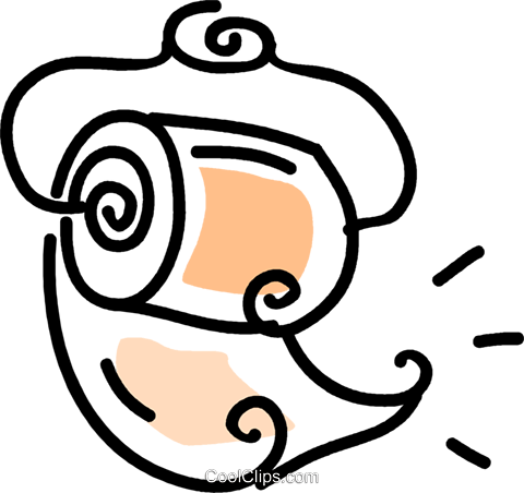 toilet paper Royalty Free Vector Clip Art illustration vc043624