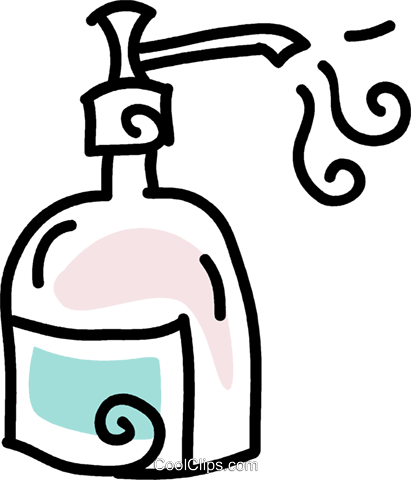 liquid soap Royalty Free Vector Clip Art illustration vc043655