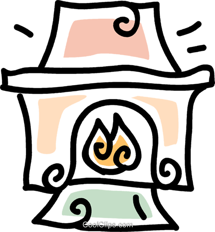 fireplace Royalty Free Vector Clip Art illustration vc043659