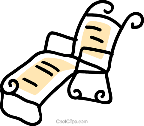 lawn chair Royalty Free Vector Clip Art illustration vc043664