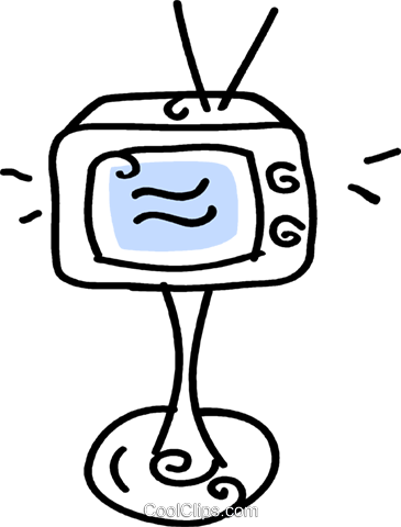 television Royalty Free Vector Clip Art illustration vc043665