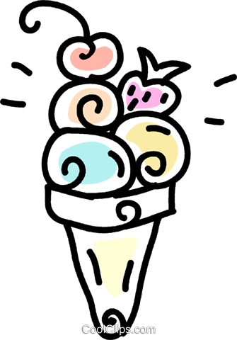 ice cream cone Royalty Free Vector Clip Art illustration vc043672